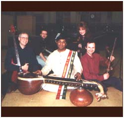 With a few artistes of the BBC Philharmonic in 2001.